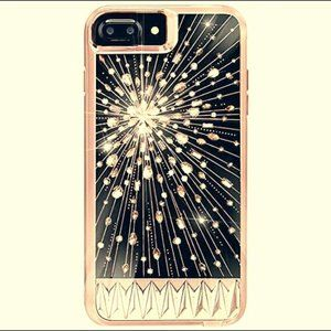 iPhone Case-Rose Gold with Crytals-Luminescent